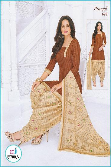 Pranjul Cotton Chudithar - Light Brown Sandal YT