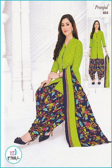 Pranjul Cotton Chudithar - Green Blue YT