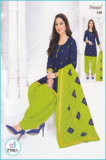 Pranjul Cotton Chudithar - Green Design YT