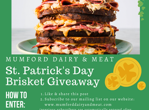 St. Patrick's Day Brisket Giveaway