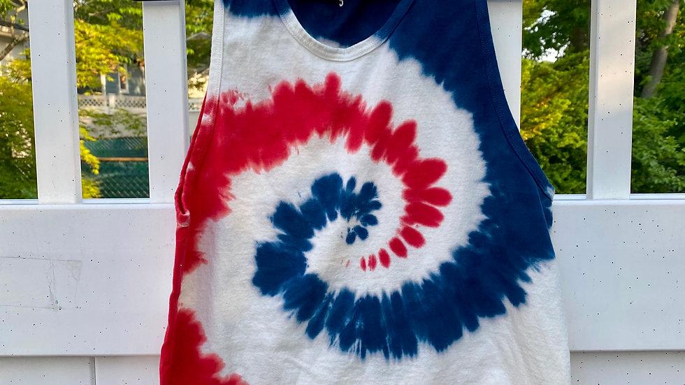 America Tie Dye Muscle Tank