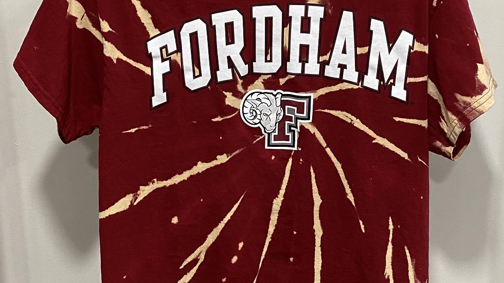 Bleach Dye Fordham University T-Shirt