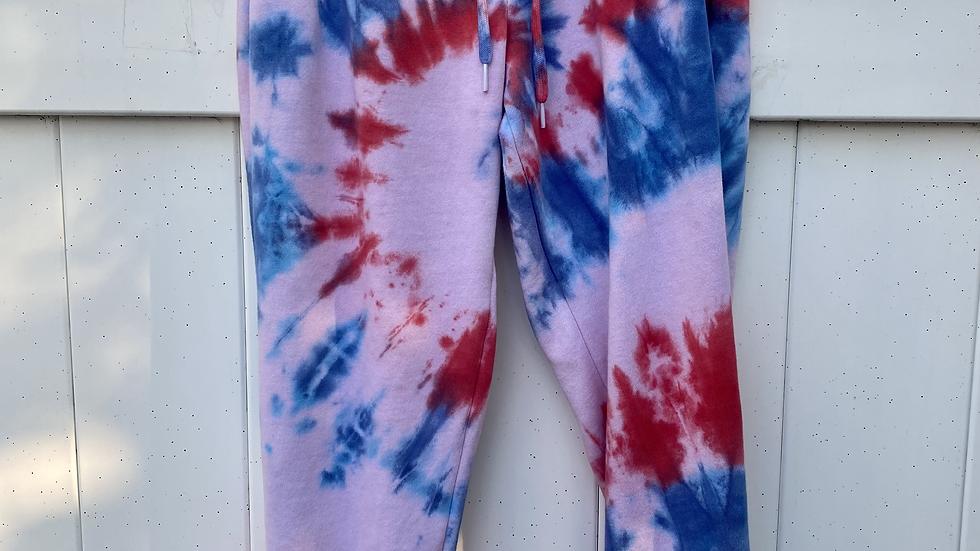 America Tie Dye Joggers