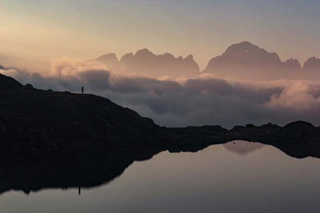 Black lake, Italy