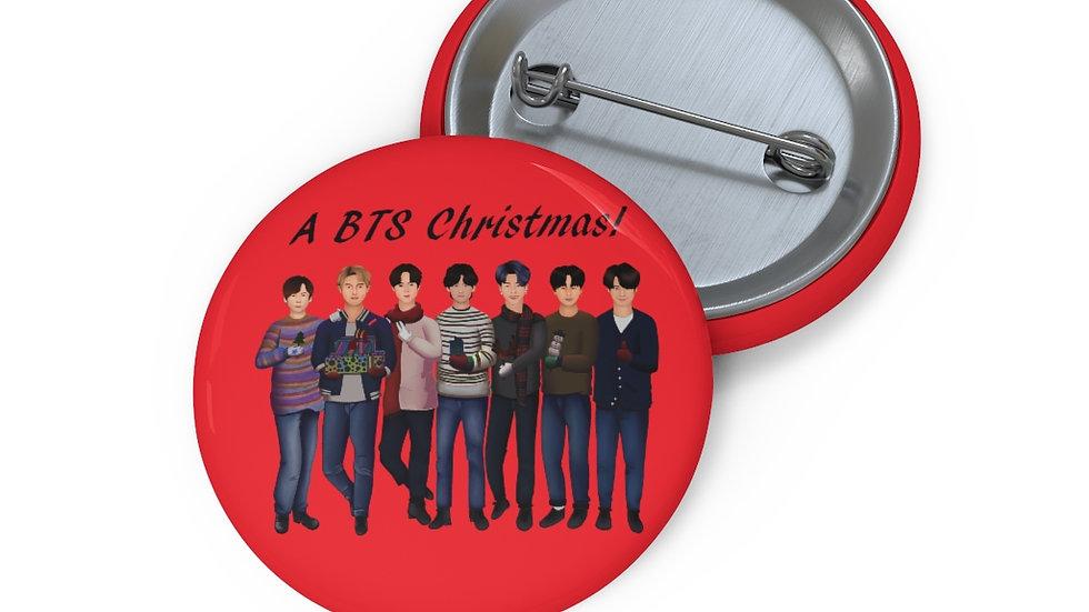 Blax Seoul BTS Holiday Custom Pin Button