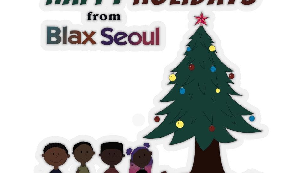 Blax Seoul Christmas Charlie Brown Kiss-Cut Stickers