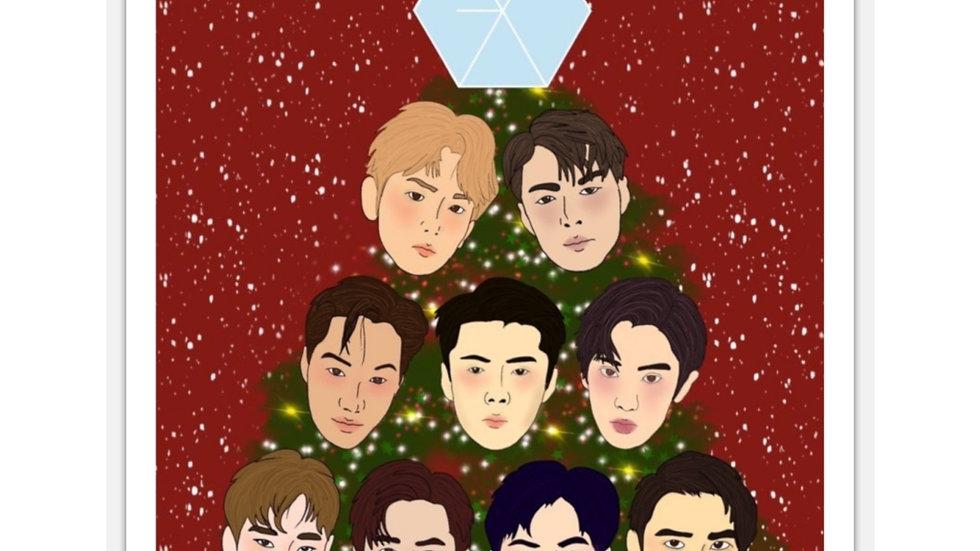 Blax Seoul Exo Christmas Sticker