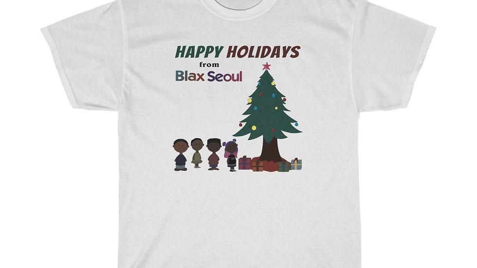 Blax Seoul Christmas Charlie Brown Unisex Heavy Cotton Tee