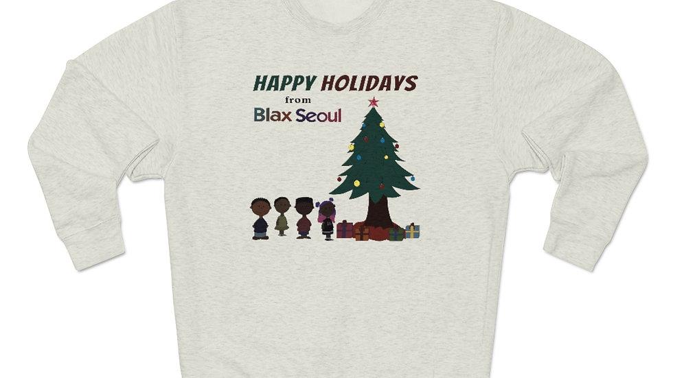 Blax Seoul Christmas Charlie Brown Unisex Premium Crewneck Sweatshirt
