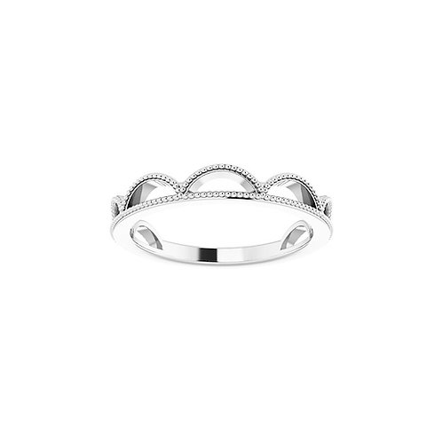 Crown Her Stackable Ring