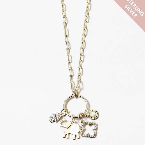 Wish Her Luck Charm Necklace