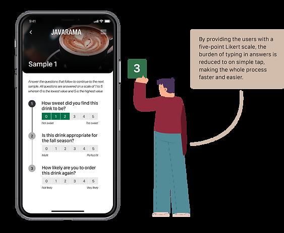 Likert scale in survey app