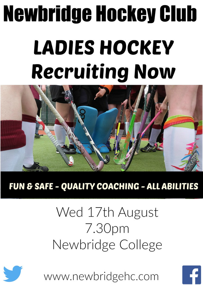 RECRUITING NOW - LADIES HOCKEY