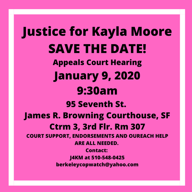 The Fight for Justice for Kayla Moore Continues - Appeals Hearing in January!