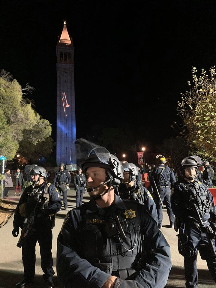 Militarized Cops on the UC Campus to Police Protests against Ann Coulter