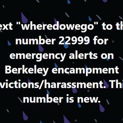 Encampment Eviction Text Alerts