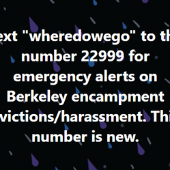 Encampment Eviction Text Alerts