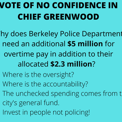 Vote of No Confidence in Chief Greenwood