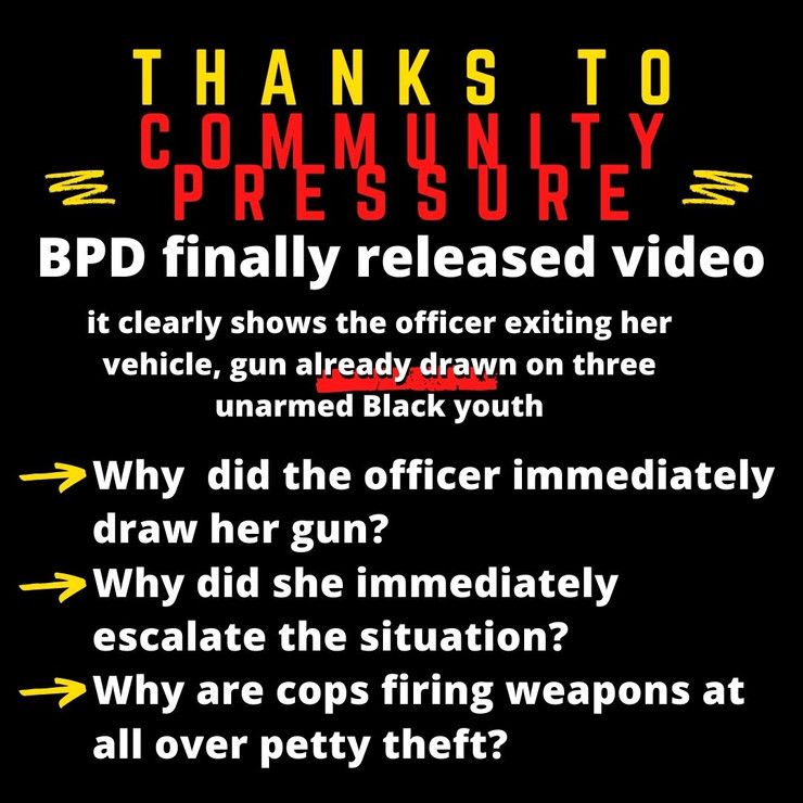 Following Community Pressure, BPD Released Highly Edited Video of Officer-Involved Shooting