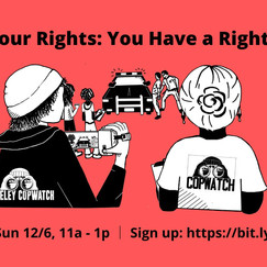 Know Your Rights Training, Sun 12/6 @ 11a