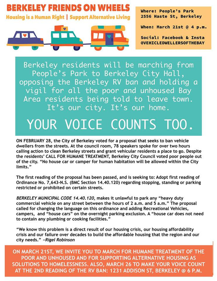 March for Alternative Housing!