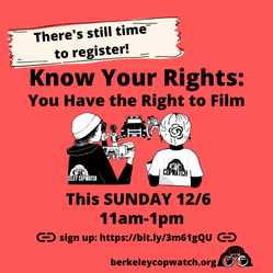 There is still time to register! Know Your Rights
