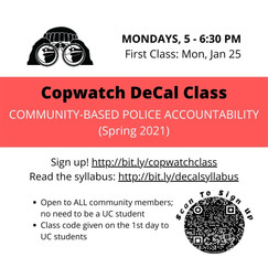 Join the Copwatch DeCal Class!