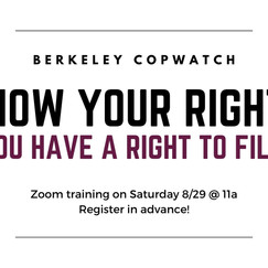 Know Your Rights Training: You Have a Right to Film