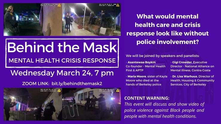 Tomorrow! Behind the Mask 2: Mental Health Crisis Response