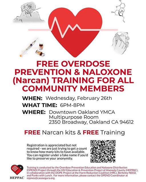 Opiate Overdose Prevention Training with the Berkeley Free Clinic