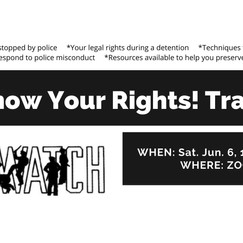 Know Your Rights! Training