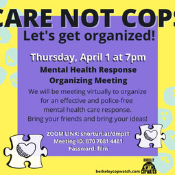 Organizing Meeting: Mental Health Crisis Response