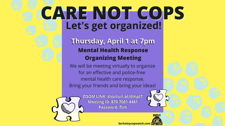 Organizing Meeting: Mental Health Crisis Response