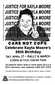 Saturday April 17 Rally & March~ CARE NOT COPS, Justice 4 Kayla Moore!
