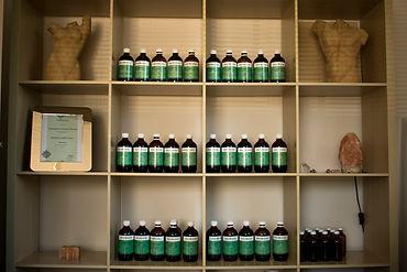 Herbal dispensary on shelves - Alexandra naturopath Bundall Gold Coast