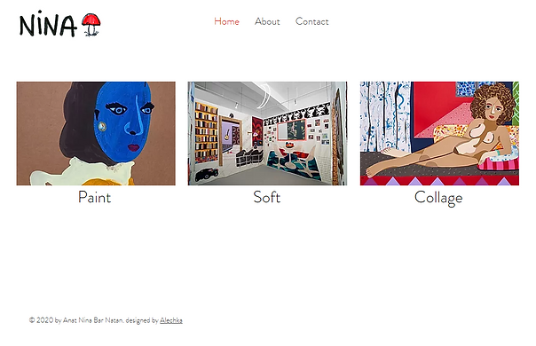 בניית אתר וויקס לאמנית