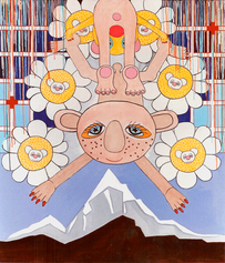 The Acrobats, acrylic on canvas, 2000.pn