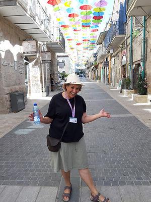 מרגלית פרידמן בסיור בר מצווה בירושלים