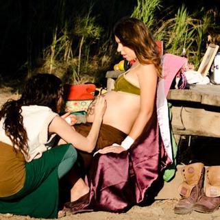 חן חינה - מפגש חינה - טקס מנדלה הריוונית בטבע 2012 chen heny -henna artherapy