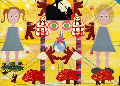 Buddah, acrylic on canvas, 60x90cm,1999.