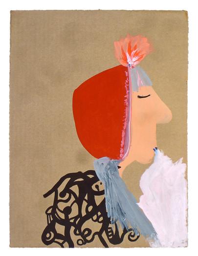 White Smoke, gouache on cardboard, 2011.