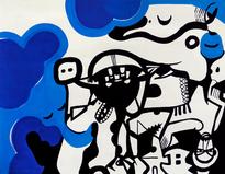 Untitled, gouache on paper, 65x50cm, 201