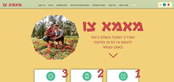 בניית אתר וויקס לפרוייקט חברתי להנגשת מידע