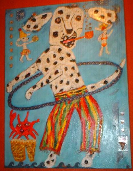 Homage to Eric Carle- Dancing Dog