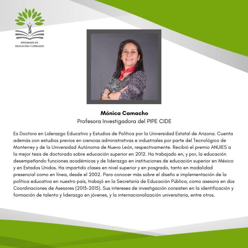 Dra. Mónica Camacho Lizárraga (PIPE-CIDE)