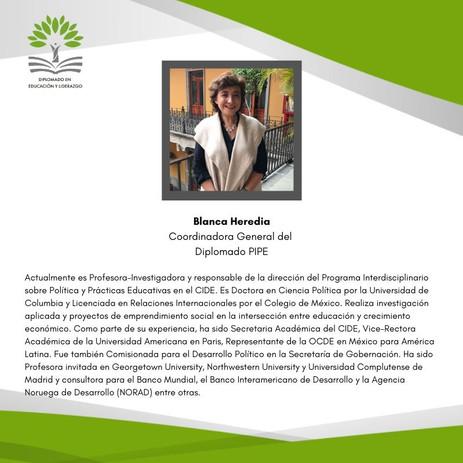 Dra. Blanca Heredia Rubio (PIPE-CIDE)