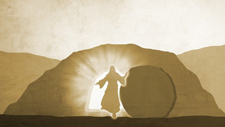 Easter empty tomb with Jesus.png
