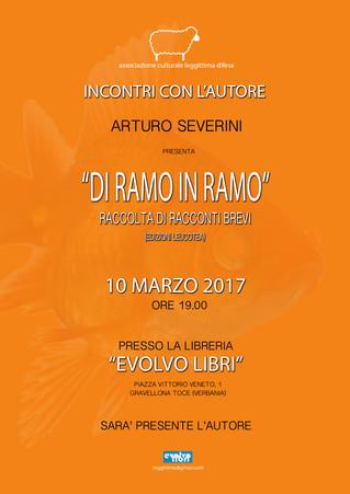 """Incontro con l'autore: """"Di Ramo in ramo"""" di Arturo Severini."""