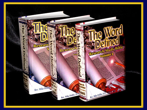 The Word Defined Set of 3- ebook only