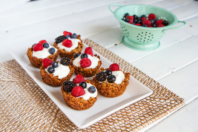 Gluten Free Breakfast Idea with Fresh Berries for Summer